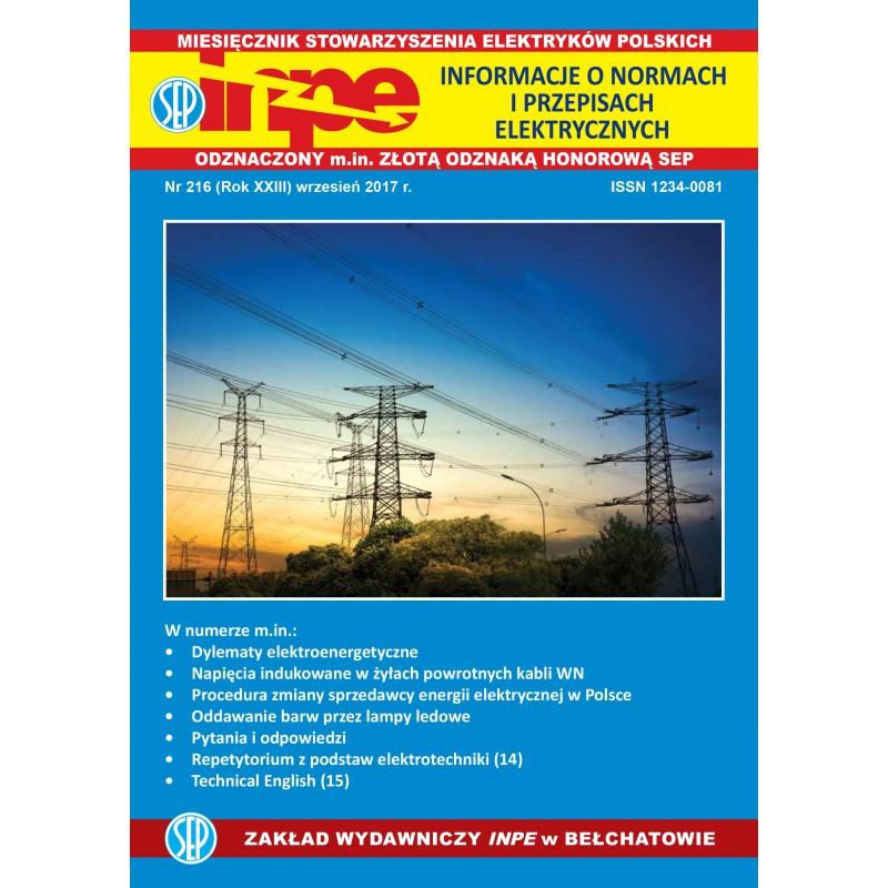 Miesięcznik SEP INPE, nr 216 - wersja elektroniczna